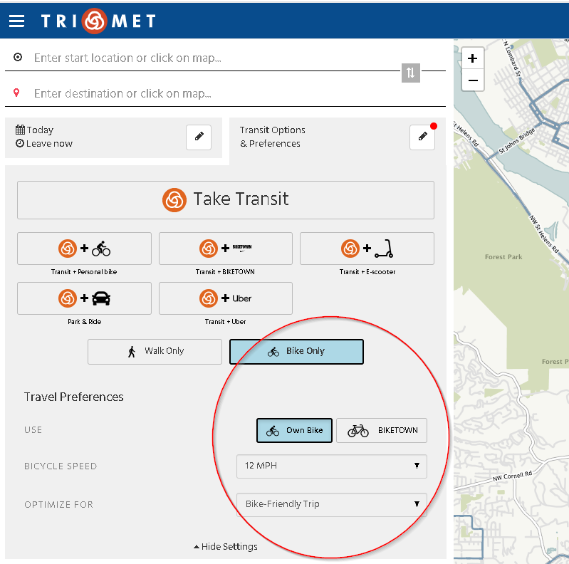 The New TriMet Trip Planner